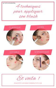 #Tuto : Appliquer le #blush en 4 techniques
