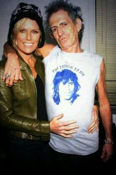 Patti Hansen with Keith Richards