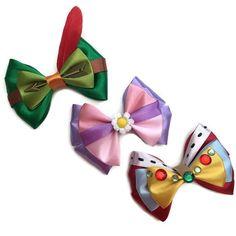 Robin Hood, Maid Marian & Prince John (Bows by Emporiumonmain Disney Hair Bows, Diy Disney Ears, Disney Diy, Disney Crafts, Disney Stuff, Market Day Ideas, Maid Marian, Elsa, Essential Oils For Kids