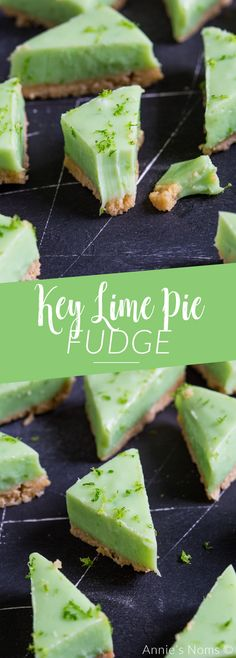 A quick and tasty recipe for fudge with all the flavours of a Key Lime Pie. This easy recipe requires no candy thermometer and is ready to eat in under ninety minutes! #fudge #keylimepie #dessert #recipe