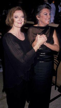 Maggie Smith with Tyne Daly at the 1990 Tony Awards