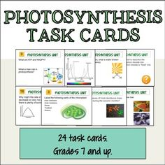 24 editable task cards. Great for review! Biology Classroom, Biology Teacher, Teaching Biology, Cell Biology, 7th Grade Science, Science Curriculum, Science Activities, Science Ideas, Middle School Activities