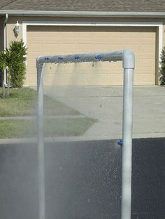 DIY Water park type kid outdoor shower FROM Instructables