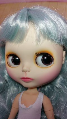 https://flic.kr/p/GvsaMW | Meet sweet lovely Dawn. Dawn is a light blue haired little girl who loves the sunset and nature. She is up for adoption. #blythesecrets #blythe
