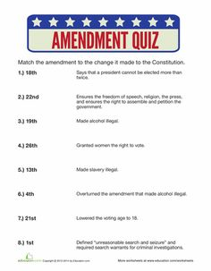 Worksheets Amending The Constitution Worksheet pinterest the worlds catalog of ideas review your knowledge amendments to constitution with this quick quiz