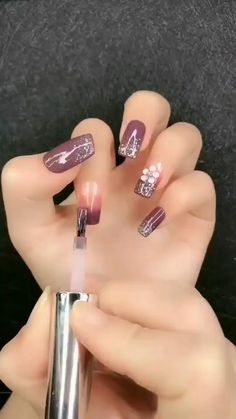 Manicure Tutorial Nail Polish Set,Environment-friendly products with healthy ingredients, low smell, NON-TOXIC. Nail Art Designs Videos, Cute Nail Art Designs, Nail Art Videos, Acrylic Nail Designs, Elegant Nail Art, Pretty Nail Art, Gel Nails, Acrylic Nails, Nail Polish