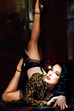 We have worked with Dita since 2001 designing and manufacturing her line of stockings.
