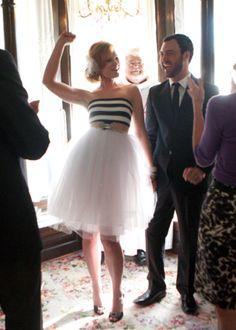 This is my DIY wedding dress. top/bebe. belt/narcisse portland. skirt/layered children's tutus! #stripes  www.vermillion-design.com