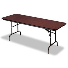 Mainstays 6 Foot Long Banquet Table Folds In Half For Travel Storage 42 At Walmart Online Party Props Vessels Pinterest Table