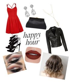 """Happy Hour"" by bellaxx13 ❤ liked on Polyvore featuring Giuseppe Zanotti, IRO, Kenneth Jay Lane, Bloomingdale's and happyhour"