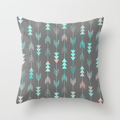 Aztec Arrows Throw Pillow by Sunkissed Laughter   Society6