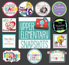 Upper Elementary Snapshots Pinterest Board is full of fun and fabulous ideas for your upper grades classroom. Great ideas, pictures, and more!