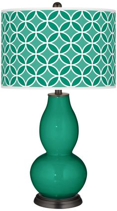 Emerald  Circle Rings Double Gourd Table Lamp -