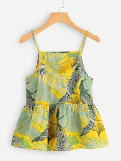 SheIn offers Tropical Print Cami Top & more. SheIn offers Tropical Print Cami Top & more to fit your fashionable needs. Source by rebekahovercast Cami Tops, Women's Dresses, Dress Outfits, Dresses Online, Ladies Dresses, Outfit Jeans, Dress Clothes, Shein Dress, Fashion Clothes