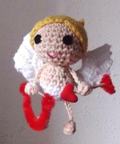 Patrón gratuito Cupido #cupido #Sanvalentin #patron #gratis #patrongratis #amigurumis #ganchillo #crochet #DMCnatura