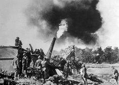 World War I, American artillery firing at the German army, September 26, 1918, U.S. signal Corps photograph