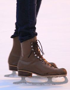 The melodic sound of skate blades on the ice