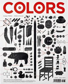 """Colors (Italy) / """"Going to market"""" New Colors magazine: 'A magazine about the rest of the world.' / Creative Director: Patrick Waterhouse, Graphic Designer: Felipe Rocha, Illustrator: Fanqiao Wang"""