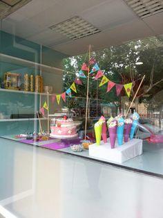 Mesa dulce,  candy bar en tonos rosas
