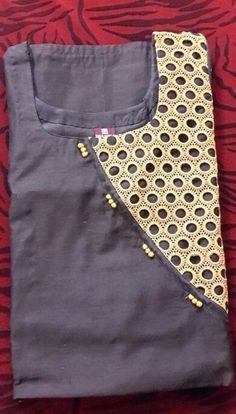 How to make different types of kurthi neck patterns - Simple Craft Ideas Salwar Neck Patterns, Salwar Neck Designs, Churidar Designs, Kurta Neck Design, Kurta Designs Women, Chudidhar Neck Designs, Neck Designs For Suits, Sleeves Designs For Dresses, Neckline Designs