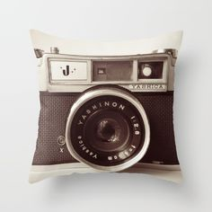 Camera Throw Pillow by Tuky Waingan. Worldwide shipping available at Society6.com. Just one of millions of high quality products available.
