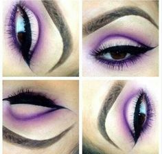 Purple cut crease