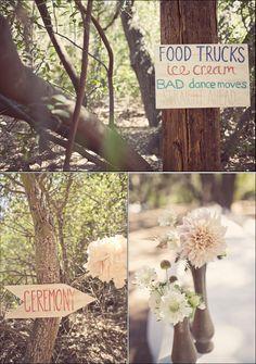 Plaquinhas e flor
