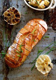 Warm: roast garlic & talegio bread...