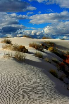 ✮ Desert Delight White Sands, New Mexico Beautiful at night under a Full Moon too ;)