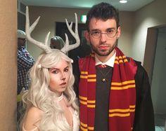 Harry Potter themed couple-costume. DIY Patronus Outfit. #harrypotter #harrypottercostume #harrypottercosplay #couplecostume #Kostüm