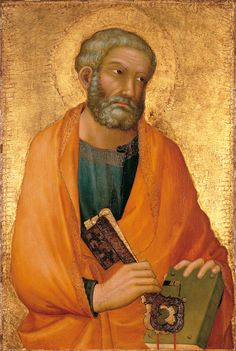 Peter -- Circa 1326 -- Simone Martini -- Italian -- Tempera on panel, gold ground -- No further reference provided. Martini, Religious Icons, Religious Art, Art Images, Art Pictures, Giorgio Vasari, Medieval Paintings, Italian Paintings, Italian Artist