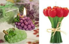 Flowers & fruits candles
