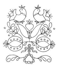 Folk Embroidery Patterns Mania Dziergan(i)a: Haft ze Schwalm Embroidery Hearts, Folk Embroidery, Learn Embroidery, Hand Embroidery Patterns, Vintage Embroidery, Ribbon Embroidery, Embroidery Stitches, Embroidery Designs, Art Textile