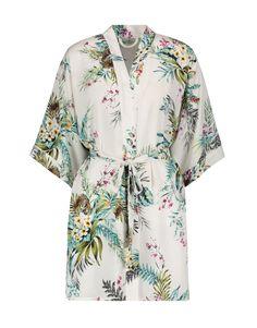 Floral Satin Kimono Gown   Woolworths.co.za Satin Kimono, Gowns Online, Lingerie Sleepwear, Lounge Wear, Kimono Top, Floral, Model, How To Wear, Clothes