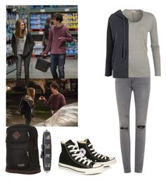 """""""Paper towns margo inspired outfit"""" by shadyannon ❤ liked on Polyvore featuring Frame Denim, American Vintage, James Perse, Valentino, Converse and JanSport"""