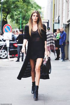 Уличная мода: Уличный стиль: черный цвет