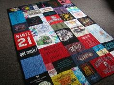 tshirt quilt by hsimitoski