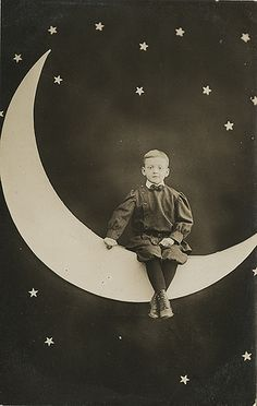 Mariner Freeman Small - Little Boy on a Paper Moon Real Photo Postcard | Flickr - Photo Sharing!