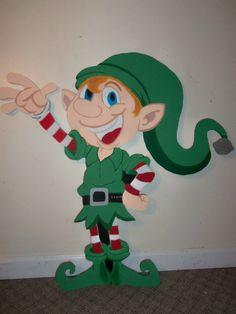 "36"" Santa's Elf Christmas Yard Art Decoration"
