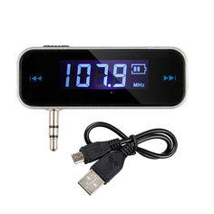 การเปรยบเทยบราคา Mini Transmitter 3.5mm In-car Music Audio FM Transmitter Electronic Car MP3 Player 3.5mm Car Display 3.5 mm mp3 car ซอตอนน