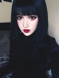 I need a new hairstyle women ashlee simpsons hairstyle,women haircuts over 50 medium best bouffant hair platinum blonde black roots. Victorian Goth, Vintage Gothic, Goth Beauty, Dark Beauty, Asian Beauty, Kina Shen, Cute Goth, Kawaii Makeup, Beautiful Girl Image
