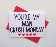 Man Crush Monday Card on Etsy, $4.00