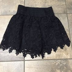 Lacey black shorts Black Lacey shorts. Size 6. Worn a couple times   Perfect condition. Super cute! Stella luce Shorts