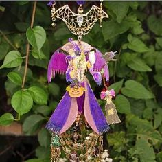 NEW KIRKS FOLLY DIVINE DIVA WITCH WIND CHIME  ~~STUNNING COLLECTOR PIECE #KirksFolly