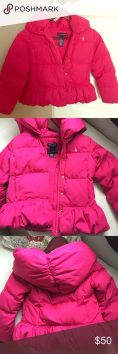 Ralph Lauren Girls Winter Coat Great condition no rips, stains or damage - non smoking clean home. Very cute, cozy and warm!! Ralph Lauren Jackets & Coats Puffers