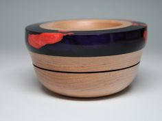 Excited to share the latest addition to my #etsy shop: Handcrafted Wooden Ring Coin Dish Maple Wood Purple & Pink Resins Wedding Engagement Housewarming Gift Collectible Modern Abstract Resin Art https://etsy.me/2GKHGFm #jewelry #purple #lovefriendship #pink #wood #jew