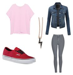 Staz Blood ~ Blood Lad by emobananas on Polyvore featuring polyvore fashion style Pinko LE3NO Topshop Vans Sugar Bean Jewelry clothing