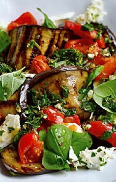 Low FODMAP and Gluten Free Recipe --  Grilled tomato & eggplant salad  --- (Update)  --  http://www.ibssano.com/low_fodmap_recipe_grilled_tomato_eggplant_salad.html