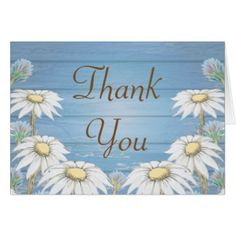 Whimsical Wood Daisies, Thank You Cards