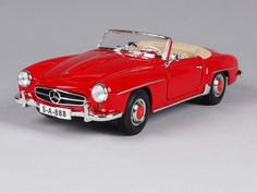 59.98$  Watch here - http://ai54d.worlditems.win/all/product.php?id=32798120907 - Maisto 1:18 Mercedes Benz 190SL 1955 Red Diecast Model Car Toy New In Box Free Shipping